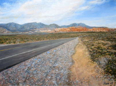 Red Rock Canyon No.6, Acrylic on canvas, 18 X 24 in. , $$400.0000