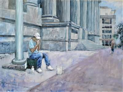 Old Courthouse Blues, Acrylic on canvas, 24 X 31 1/2 in., $$500.0000